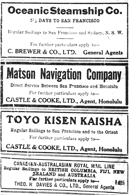 100 Years Ago – Mail to and from Hawai'i